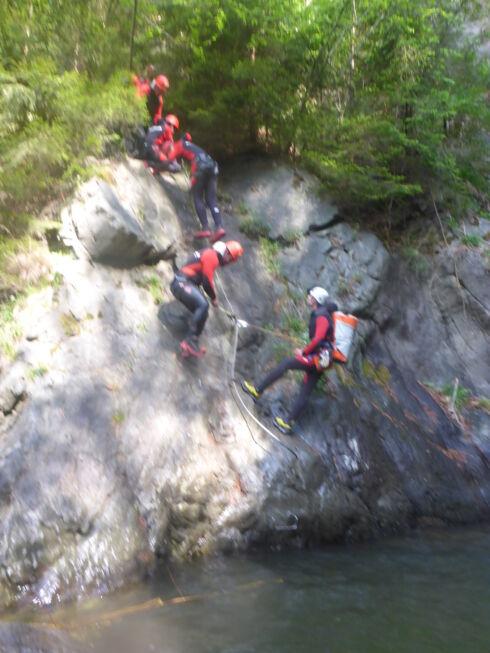 Canyoning-Abteilungsausflug Fertigung-Ötztal-Wassercraft